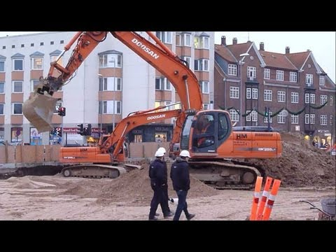 Doosan Excavator in action