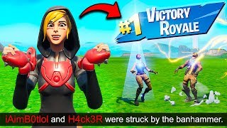 *INSANE* TWO HACKERS BANNED AT ONCE!! – Fortnite Funny Fails and WTF Moments! #693