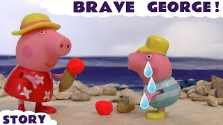 Peppa Pig Play Doh Ice Cream English Episode with George Funfair Holiday Set Toys TT4u