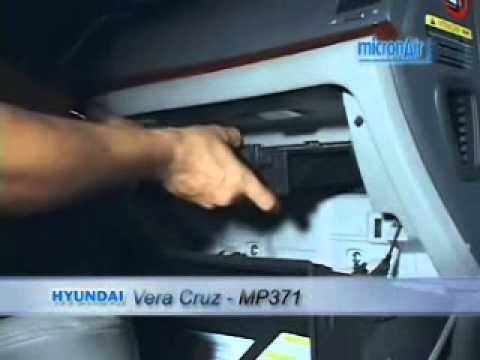 Troca de filtro de ar condicionado do Vera Cruz