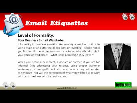 Email Etiquettes Training - www.letstalk.co.in