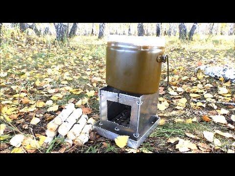 Печка в лесу своими руками