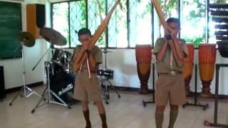 นักเรียน ป 5 ฝึกเป่าแคน เพลงเต้ยพม่า (ฝึกเป่าขั้นพื้นฐานช้าๆ)