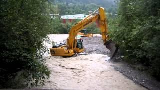 Vermurung Galitzenklamm Amlach Hochwasser - Rettung in letzter Sekunde