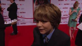 Iron Man 3 World Premiere Ty Simpkins as Harley Keener
