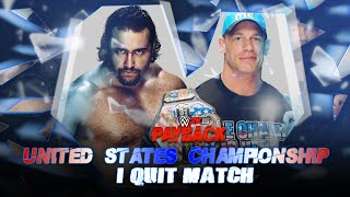 WWE Payback 2015 - John Cena vs Rusev (I Quit Match - US Championship) - WWE 2K15