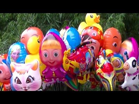 Lagu Anak Balonku Ada Lima - Balon Masha, Boboiboy, Upin Ipin, Pokemon, Duck, Doraemon, Frozen