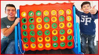 Funny GIANT CONNECT 4 FAMILY GAME Challenge, Life Size Toys for Kids