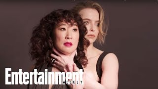 Killing Eve's Sandra Oh & Jodie Comer Dish On Season 2 | Cover Shoot | Entertainment Weekly