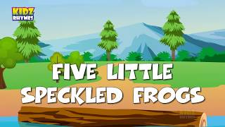 Five Little Speckled Frogs | English Nursery rhymes for chlidren