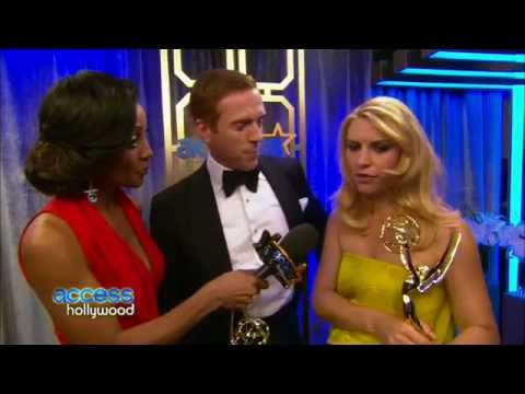Damian Lewis & Claire Danes backstage at the 2012 Emmys (23 September 2012)