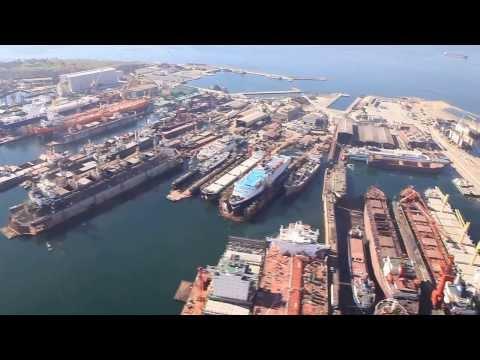 2013 TUZLA SHIYARD OIL PLATFORM BERTHING MANOEUVRE