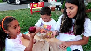 Kids pretend play Monkey In Real Life with Surprise Real Food