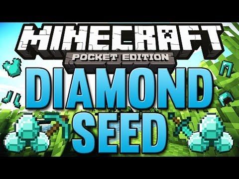 Minecraft Pocket Edition   DIAMOND SEED 0.8.1 - With Iron & Coal!
