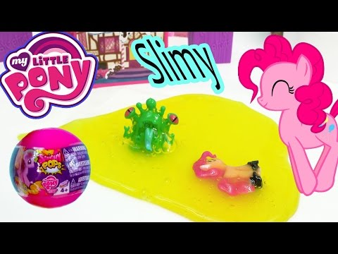 Mlp Squishy Pops My Little Pony Blind Bag Balls Pinkie Pie Slimy Sludge Monster Surprise Opening video