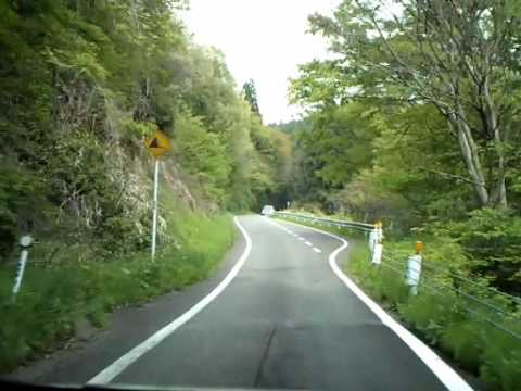 運転車窓動画 護摩堂山の峠道 (2/3) 湯田上-[山越え]→橋田 (29.97fps)