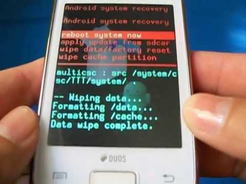 Hard Reset Galaxy Y DUOS S6102   Como Formatar. Desbloquear. Travado ou Muitas Tentativas de Padrão