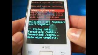 Hard Reset Samsung Galaxy Y DUOS - S6102 - Cdigo, Travado ou Muitas Tentativas de Padro