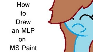 How to draw an mlp on MS Paint
