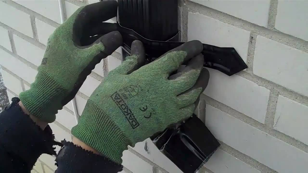 How To Install A Downspout Strap Youtube