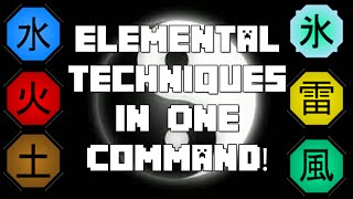 Elemental Techniques In One Command!