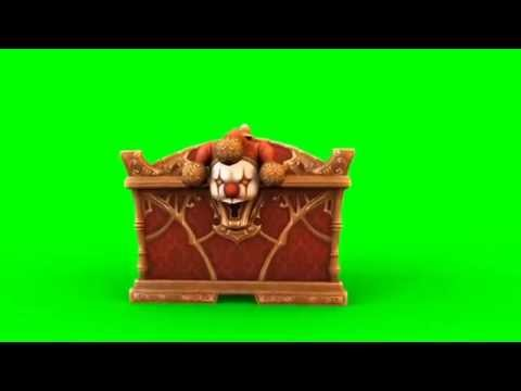 Green Screen MysteryBox Clown Gold Coins - Footage PixelBoom thumbnail