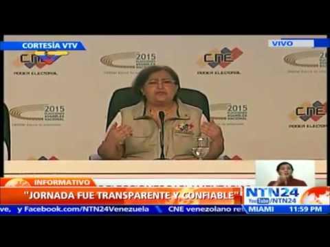 VIDEO: CNE: OPOSICIÓN VENEZOLANA OBTIENE 99 DIPUTADOS A LA ASAMBLEA NACIONAL FRENTE 46 DEL OFICIALISMO