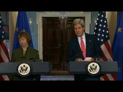 Secretary Kerry Delivers Remarks With EU High Representative Lady Ashton