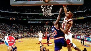 Scottie Pippen dunks on Patrick Ewing, then taunts Spike Lee | ESPN Archives