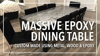 (15.8 MB) Massive Epoxy Dining Table | Custom Made from Scratch using Metal, Wood and Epoxy Resin Mp3