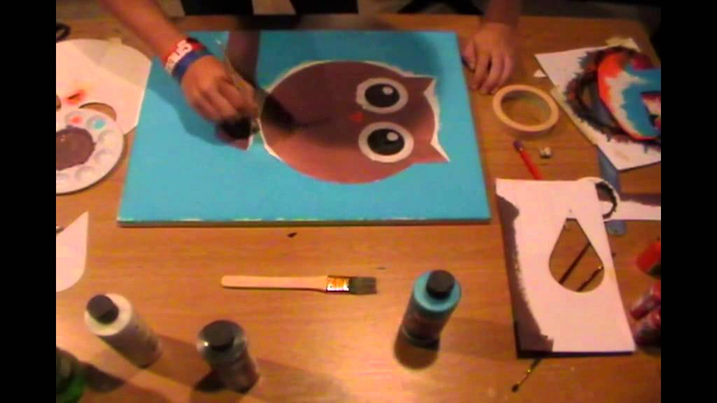 Easy Owl Canvas Painting