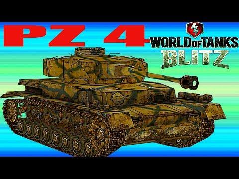 WoT Blitz обзор танка PZ-4 немецкий средний танк PZ4 новичкам немецкая ветка World of Tanks Blitz#73