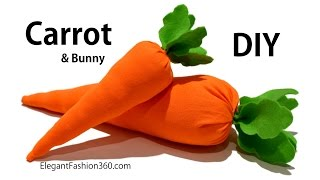 DIY Carrot and Bunny (NO Sew)