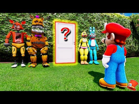 WHAT ARE THE ANIMATRONICS HIDING FROM SUPER MARIO ODYSSEY? (GTA 5 Mods For Kids FNAF RedHatter)