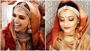 Deepika padukone konkani bridal inspired makeup look   bridal makeup under 500 rs.   Hina Usmani
