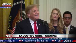 PROTECTING FREE SPEECH ON COLLEGE CAMPUSES: President Trump Signs Executive Order