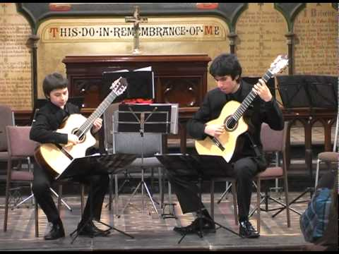 Ziggy and Miles Johnston (ZAM DUO) play Tango, Milonga y Final by Maximo Diego Pujol