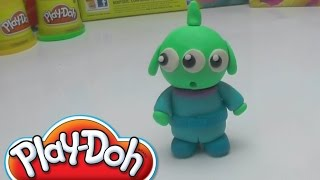 Funny Green Monsters Alien   How to make with PLAY DOH at HOME DIY