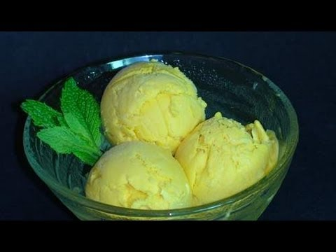 Mango Ice Cream - Indian Dessert Recipe Video