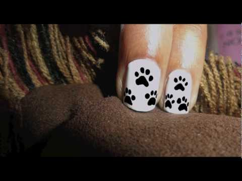 Cute Paw Nail Art HD