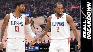 Paul George & Kawhi Leonard Together Take Down NBA Best Celtics in OT! Game Highlights