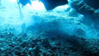 Cave diving in St. John