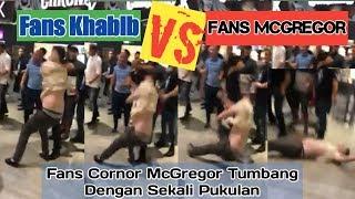 Fans Khabib Nurmagomedov Dan Fans Cornor McGregor Rusuh Saling Pukul