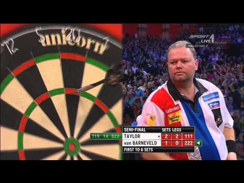 Phil Taylor vs Raymond van Barneveld PDC World Darts Championschip 2013 Semi Final War Highlights HD