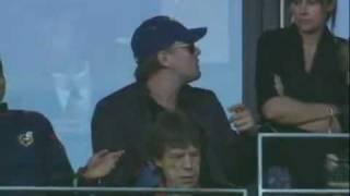 Thumb Mick Jagger con Leonardo DiCaprio en el partido de Argentina versus Alemania