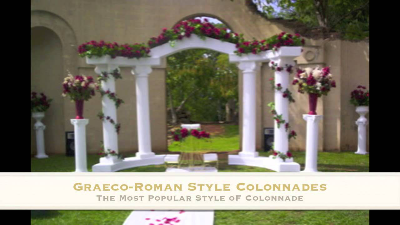 Wedding Columns Empire Columns And Colonnades Youtube