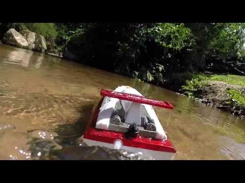 RC Boat FT007 River Experience - 01
