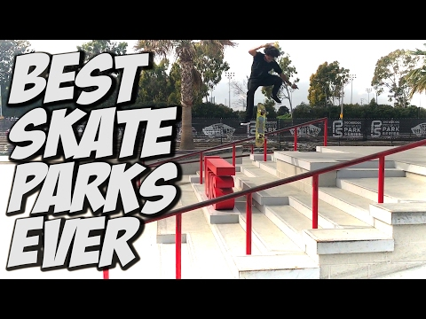 BEST SKATE PARKS EVER !!! - A DAY WITH NKA -
