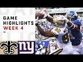 Saints vs. Giants Week 4 Highlights   NFL 2018
