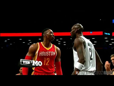 Dwight Howard, Kevin Garnett fight -- Nets/Rockets 1/12/2015